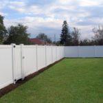 Gard alb din PVC