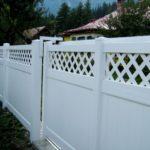 Gard din PVC alb