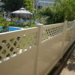 Gard din PVC cu model