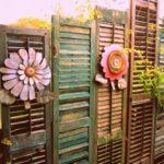 Garduri decorate cu obloane si flori