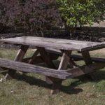 Masa cu banci duble din lemn