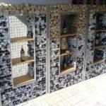 Perete terasa din gabioane