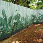 Pictura cu plante pe gard