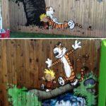 Picturi pentru copii pe gard