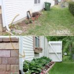 Straturi de flori langa casa