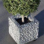 Suport arbust din gabioane