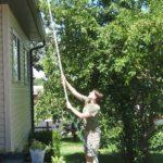 Suport curatare acoperis din teava PVC