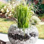 Suport de flori din gabion