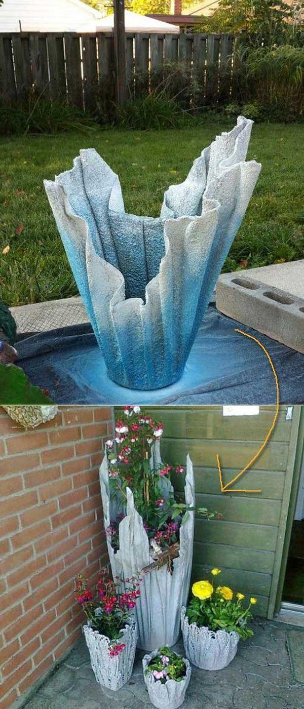 Suport decorativ de flori DIY