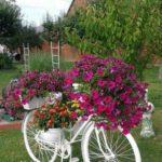 Suport flori din biciclete