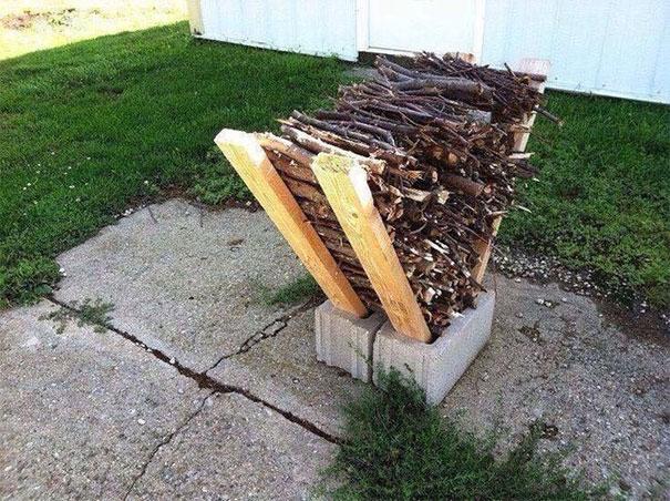 Suport pentru lemne DIY