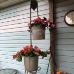 Suporturi agatate de flori