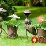 Suporturi de flori in forma de furnici