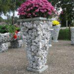 Suporturi flori din gabioane