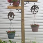 Suporturi rustice de flori