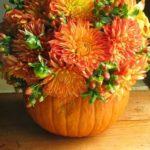 Vas de flori din bostan