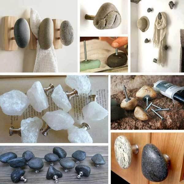 Cuier din pietre de rau