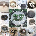 Dale cu cifre din beton
