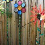Decoratiuni gard in forma de flori