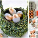 Decoratiuni in forma de oua din beton