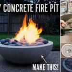 Foc de tabara decorativ din beton