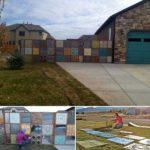 Gard mozaic colorat