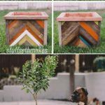 Ghivece colorate din lemn