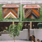 Ghiveci decorativ din lemn