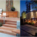 Gratar pe terasa placata cu lemn