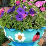 Jardiniera colorata din anevelope