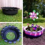 Jardiniera colorata din cauciuc