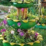 Jardiniera eleganta din anvelope
