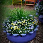Jardiniera flori din anvelopa