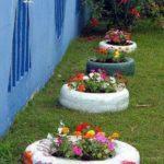 Jardiniere colorate gradina