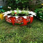 Jardiniere decorative din anevelope