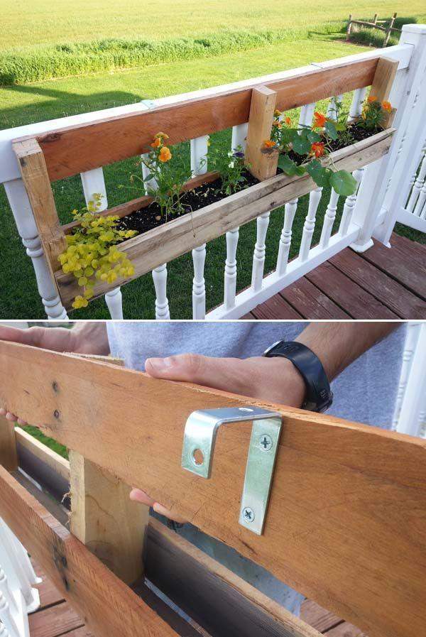 Jardiniere din lemn pentru terasa