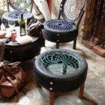 Scaune din anvelope vechi