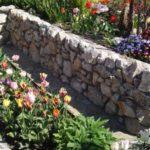 Straturi flori marginite de pietre