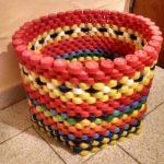 Cos pentru gradina din dopuri de plastic