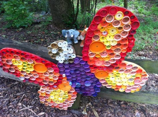 Fluture decoratiune de gradina
