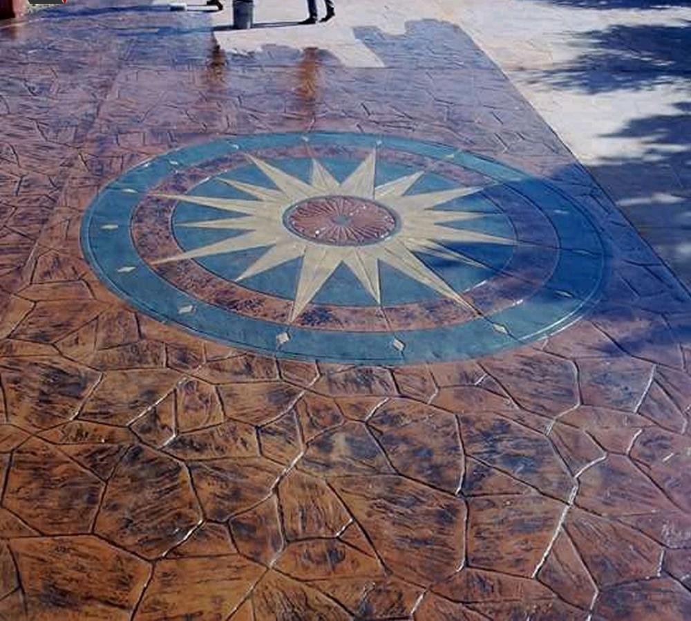 Model de pavaj din beton amprentat