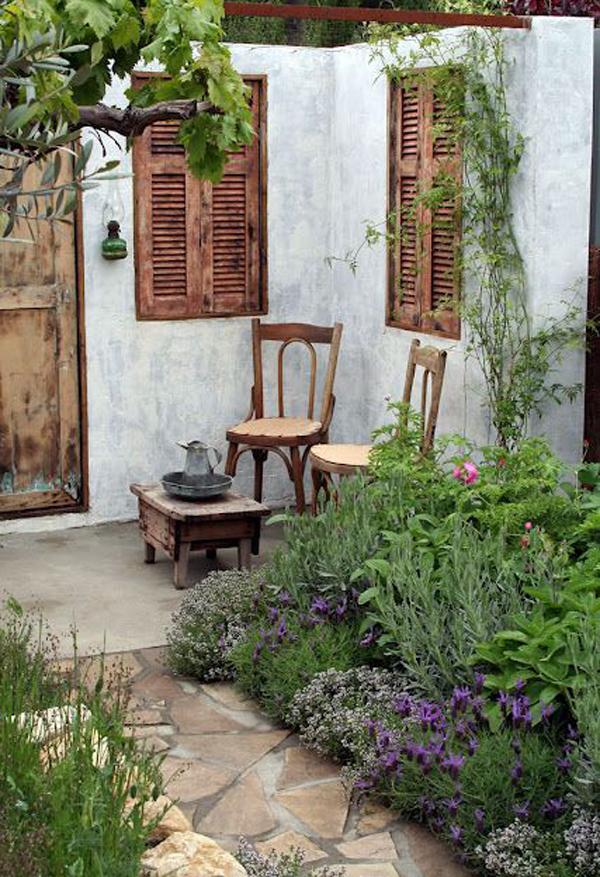 Veranda mica in stil rustic