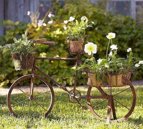 bicicleta decorativa pentru gradina