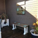 mobilier alb de terasa